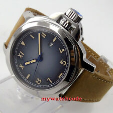 44mm Parnis blue Color Grad dial Sapphire glass Miyota Automatic Mens watch p474