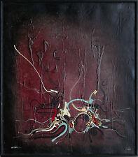 Surreal-vegetative Abstraktion 1977 Deutschland Ölgemälde Leinwand signiert Cuel