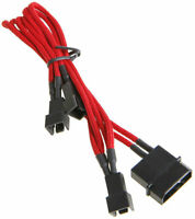 BattleBorn Purple 4-Pin Fan Male to Female Single Cable Cord Premium Braided Adapter