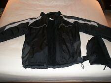 NWT Calvin Klein Fleece Lined Hooded Winter Coat Dark Gray / Black