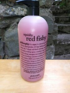 philosophy squishy red fishy 32 oz 3 and 1 shower gel with pump
