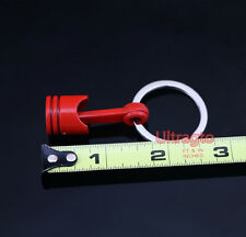 Style Key Chain Ring Fob Keychain Universal Jdm Red Engine Block Piston Assembly