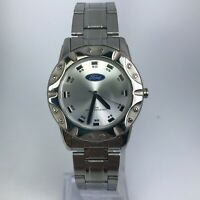 Ford Mens Motor Company 124 Silver Tone Stainless Steel Watch