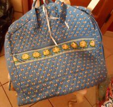 Vera Bradley garment bag in retire blue bees pattern