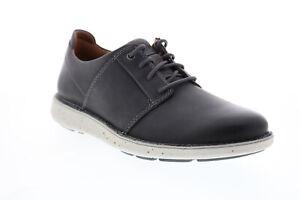 Clarks Un Larvik Lace 2 Men Gray Leather Oxfords & Lace Ups Plain Toe Shoes
