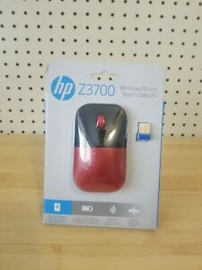 HP Z3700 (V0L82AA#ABL) Wireless Mouse, Red, Red