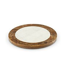 Gg Marble Lazy Susan Other Decor, 18InL x 18InW x 1.75InH, Multicolor