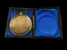 More details for antique silver reward for good writing medal 1876 queen victoria hallmarked j18