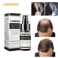 LANBENA Hair Growth Spray Essence Konsolidieren Anti-Haarausfall Nähren Wurzeln
