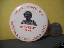 CROSS CANADA RUN 1977 BREN KELLY,PINBACK,VICTORIA BC TO ST JOHNS NEWFOUNDLAND!!