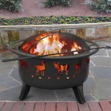 Landmann Patio Lights 23192 Deer Pattern Outdoor Patio Fire Pit w/ Cooking Grate