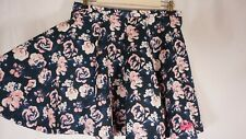 Superdry Skater Skirt Floral Blue Womens Size M Blue Twirl