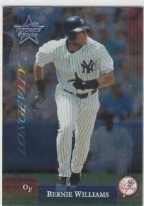 BERNIE WILLIAMS /100 LEAF ROOKIES & STARS LONGEVITY FOIL NEW YORK YANKEES 2002