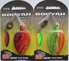 2 - BOOYAH BAIT Real Craw Pond Magic - 3/16 oz. - Nest Robber & Okie Craw