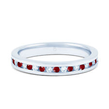 9 Carat Anniversary Ruby White Gold Fine Rings
