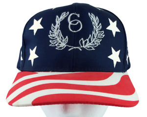 Patriotic Snapback Hat Stars Stripes Red White Blue Structured Cap CO