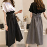 2pcs Women Girls Fashion Korean Suit Short Sleeve T-shirt+Skirt Dress Plus Size