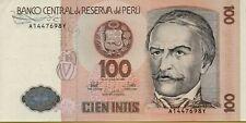 1987 Peru 100 Intis Banknote