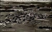 Eggstätt Bayern s/w AK 1964 gelaufen Totale mit Hartsee Cekade Luftaufnahme