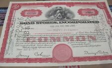 Bond Stores, inc. 1946-58OLD CANCELED stock CERTIFICATE