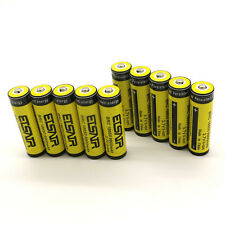 10pcs 18650 3.7V 9900mAh Rechargeable Li-ion Battery Yellow Batteries USA Stock