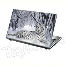 """TaylorHe 15.6"""" Laptop Skin Cover Sticker Decal Tiger in Snow Big Cat 205"""