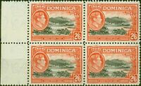 Dominica 1938 2s6d Black & Vermilion SG107 V.F MNH Block of 4