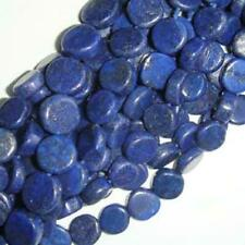 Lapis Lazuli Plain Coin Beads 6-7mm Blue 48+ Pcs Dyed Handcut Gemstones Crafts
