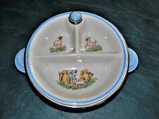 Vintage Bartsch Mfg. Co. Baby Child Hot Water dish Ceramic Chrome plated 1940s