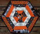 Handcrafted Quilted Table Runner Topper HALLOWEEN WITCH HAT SPIDER WEB