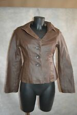 BLOUSON VESTE GUÊSS  CUIR   TAILLE S/36 LEATHER JACKET/CHAQUETA/GIACCA BE