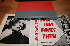 THEY HAD FACES THEN by Springer & Hamilton Starlets of the 1930's (hard cover)