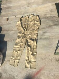 Stanco FRC681-TN Deluxe Fr Full-Cover Coveralls Cotton Tan 4XLT Large
