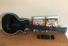 XBOX 360 Guitar Hero III Gibson Wireless Controller Bundle W 2 Games World Tour