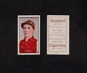 "s3455) 1908 SNIDERS & ABRAHAMS AUSTRALIAN JOCKEYS CARD ""W.  RAY"""