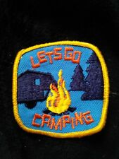 """""""Let's Go Camping"""" scout Patch"""