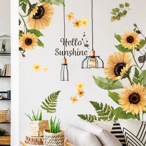 Sunflower Wall Sticker Decal Mural Paper Arts Kids Room Decor