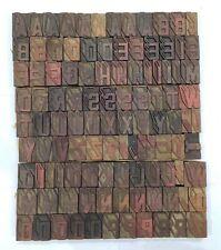 Vintage Letterpress Woodwooden Printing Type Block Typography 109 Pc 42mmtp 33