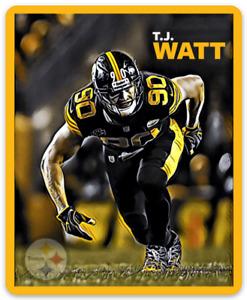 T.J. Watt Pittsburgh Steelers Character Rendering NFL Football MAGNET