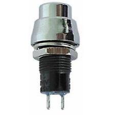 Drucktaster R1384A, 3 A, 125 V, silber, Taster, Einbautaster, Klingeltaster