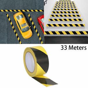 Hazard Warning Black/Yellow Tape 50mm x 33m Social Distancing Floor Pvc Tape