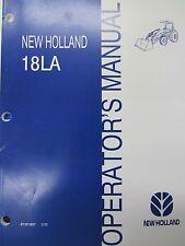 New Holland Operator's Manual 18La 87331657 March 2005