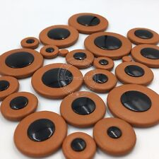 Professional Leather Pads Tenor Saxophone Pads Accessory Brown
