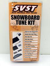 NEW SVST Complete Ski Tune Kit with Wax Brush Edger Scraper Snowboard Tuning Kit