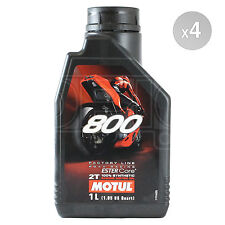 Motul 800 2T Factory Line Road Racing 2 Stroke Motorcycle Oil 4 x 1 Litre 4L