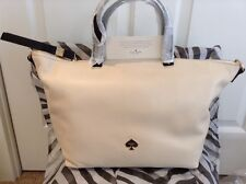 BRAND NEW PKG KATE SPADE LINSLEY TECH SAVY LEATHER TOTE EMPIRE BEIGE LEROY ST