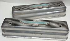"1957 Ford Thunderbird 312"" Y Block original finned aluminum ""Bird"" valve covers"