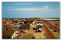 Ocean City, MD postcard South End of Two-Mile Boardwalk, amusement park rides +