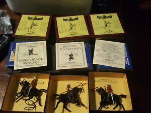 Britains, 16th Lancers, glossy Armies of the world reissue hollow casts.x3