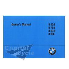 BMW Owner Manual Rider Book OEM R90S R90 R75 R60 R90/6 R75/6 R60/6 R90 S